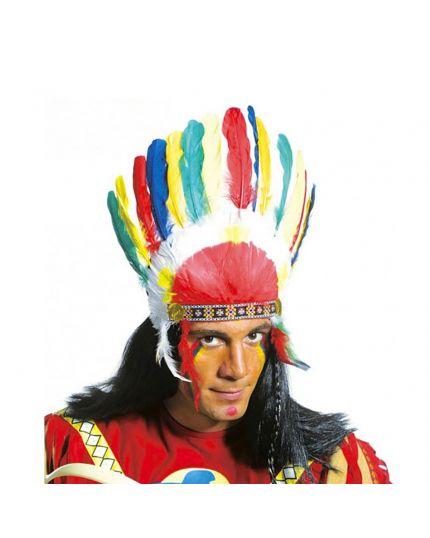 Copricapo Indiano con Piume