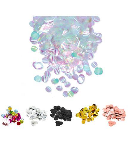 Coriandoli Confetti da Tavola Colorati Metal 2cm 50gr