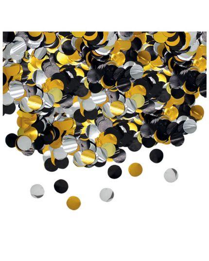 Coriandoli da Tavola Oro, Argento e Nero Metallizzati 2cm 50gr