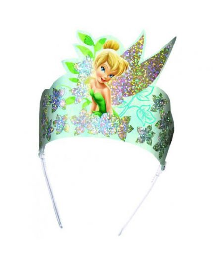 Coroncine Tiare Carta Fairies Disney Trilli Holo Effetto Glitter