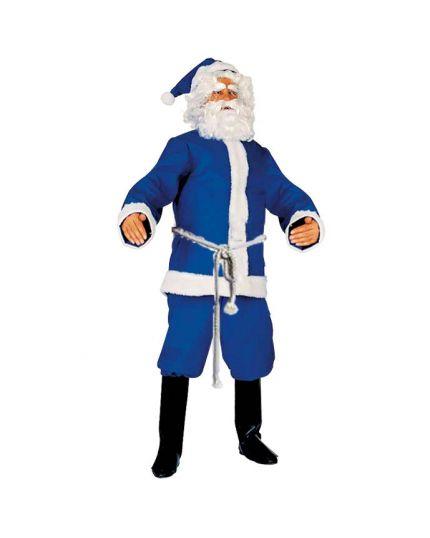 Costume Babbo Natale Blu Adulto