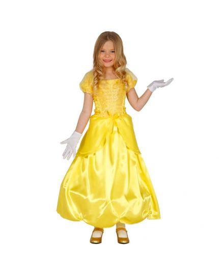 Costume Belle Principessa Gialla Bambina