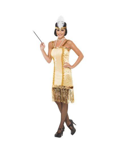 Costume Charleston Oro Donna