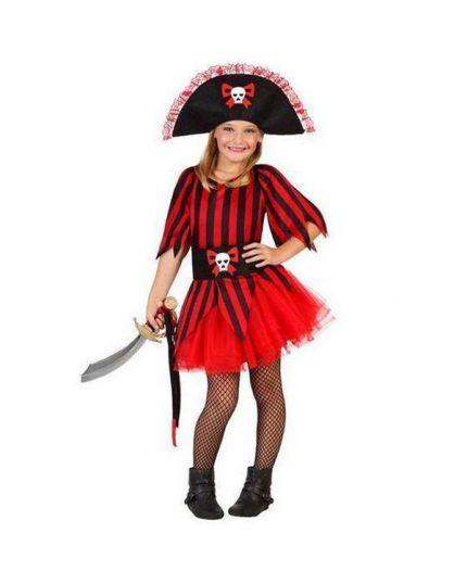 Costume Corsara Rossa Bambina