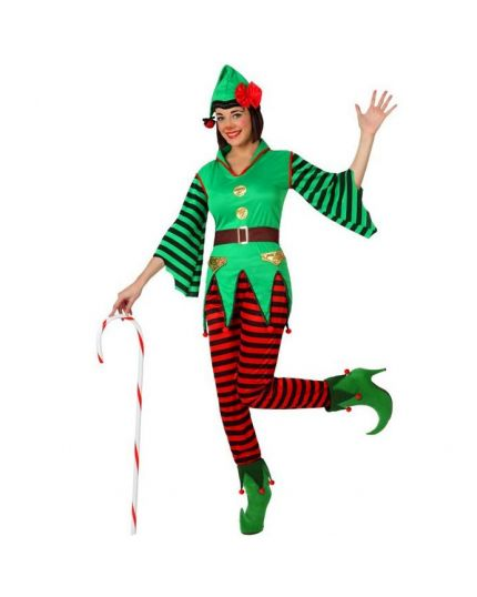 Costume Elfa Aiutante Babbo Natale Donna