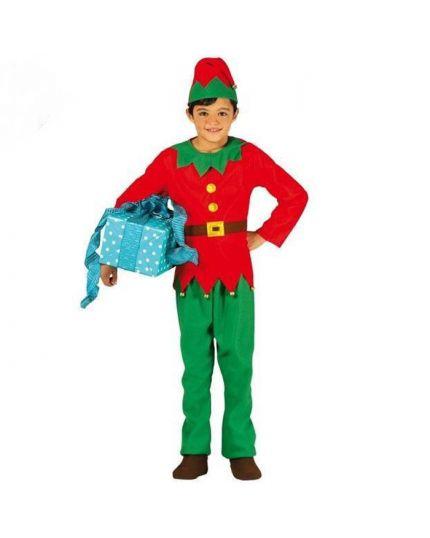 Costume Elfo Aiutande Babbo Natale Bambino