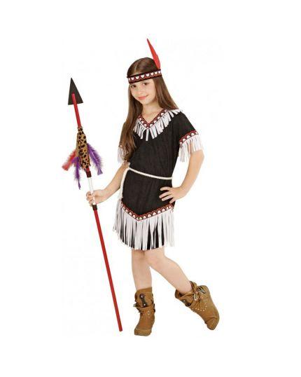 Costume Indiana  Bambina con Frange