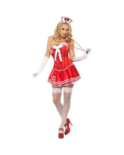 Costume Infermiera Sexy Rossa Donna