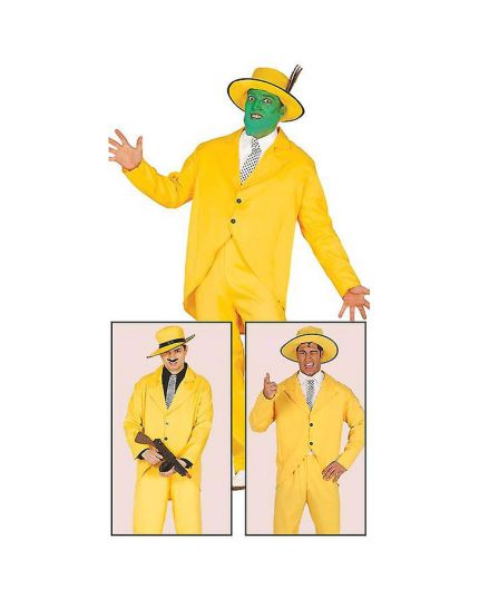Costume Gangster Giallo Mask Uomo