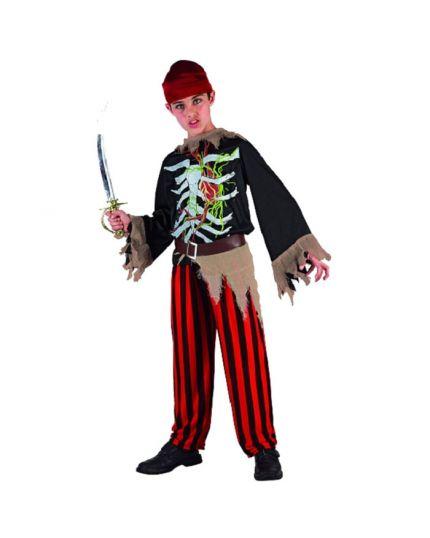 Costume Scheletro Pirata Bambino
