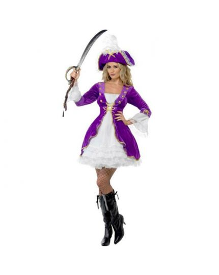 Costume Piratessa Viola Donna