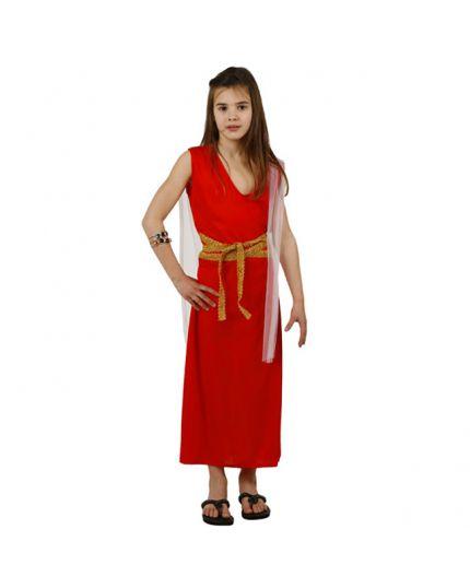 Costume Antica Romana Rosso Bambina