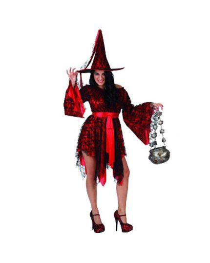 Costume Strega Pizzo Donna