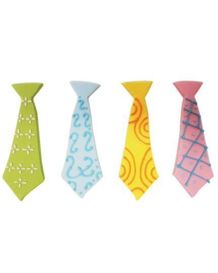 Decorazioni Cravatte Colorate in Zucchero 8cm