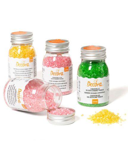 Cristalli Zucchero Colorati Decora 100gr