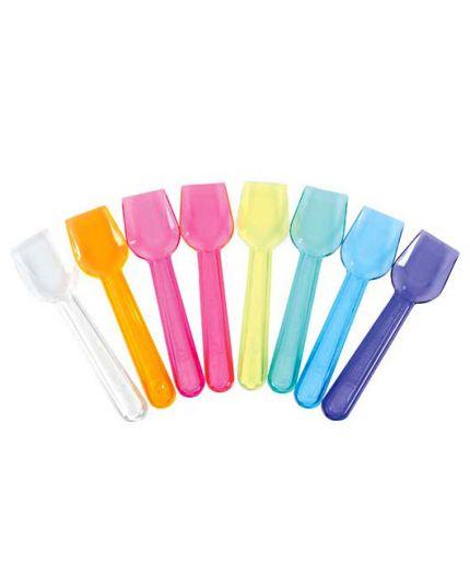 Palette Cucchiaini per Gelato Pvc Trasparenti Multicolor 30pz