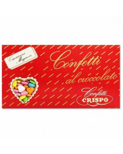Confetti Cuoricini Mignon Multicolor al Cioccolato Crispo 1 kg