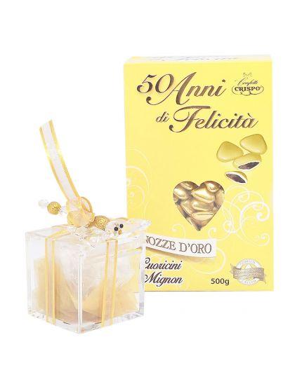 Confetti Crispo Cuoricini Mignon Oro o Argento