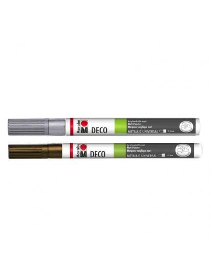 Pennarello Indelebile Marabu Deco Metallic Universal Colorato 2-4mm