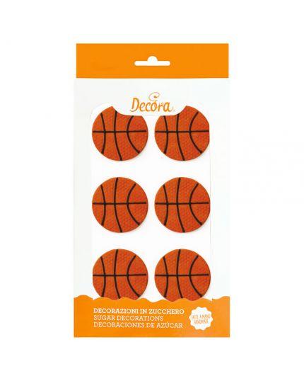 Decorazioni Zucchero Palloni Basket Decora 4cm