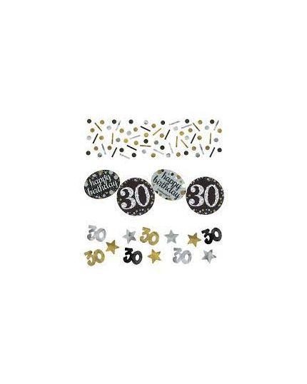 Confetti da Tavola 30 Anni Sparkling Argento e Oro 34gr