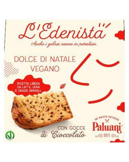 Panettone Vegano con Gocce di Cioccolato L'Edenista 750gr Paluani