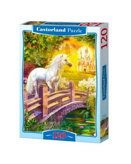 Puzzle 120 Pezzi Unicorno Bianco 32x23 Cm