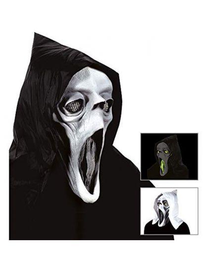 Maschera Lattice Fantasma Colorata Fluorescente con Velo