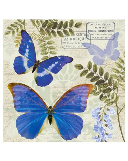 Tovaglioli Carta Ble Butterfly