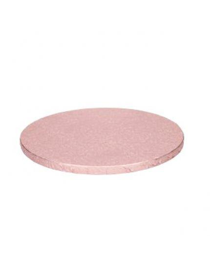 Sottotorta Rotondo Cartone Oro Rosa
