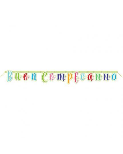 Festone Carta Buon Compleanno Multicolor