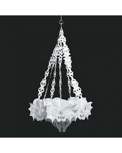 Decorazione da Appendere Pvc Lampadario Mostruoso Bianco 40x60cm