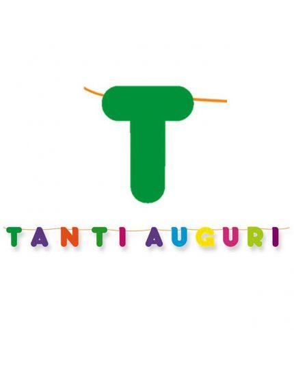 Festone Maxi Scritta Tanti Auguri Multicolor