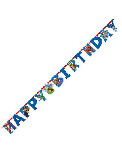 Festone Carta Paw Patrol Happy Birthday