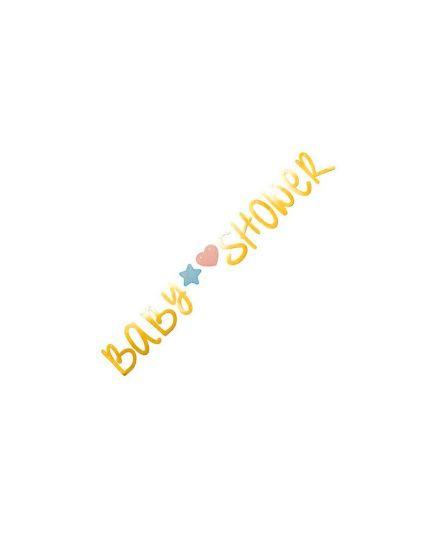 Festone Scritta Oro Baby Shower Bambino e Bambina