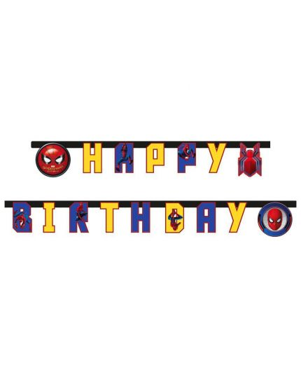 Festone Carta Spiderman Happy Birthday