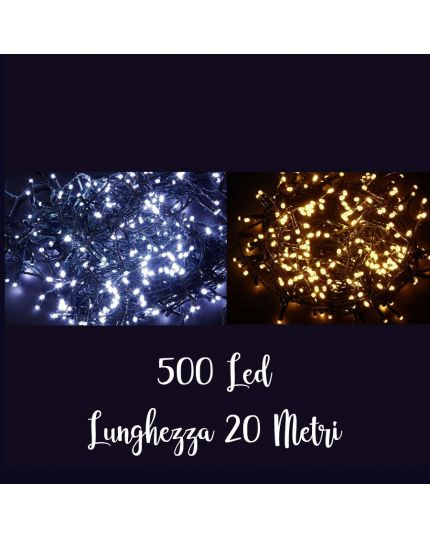 Filo Verde Scuro 500 Luci LED Colorate 20 Metri