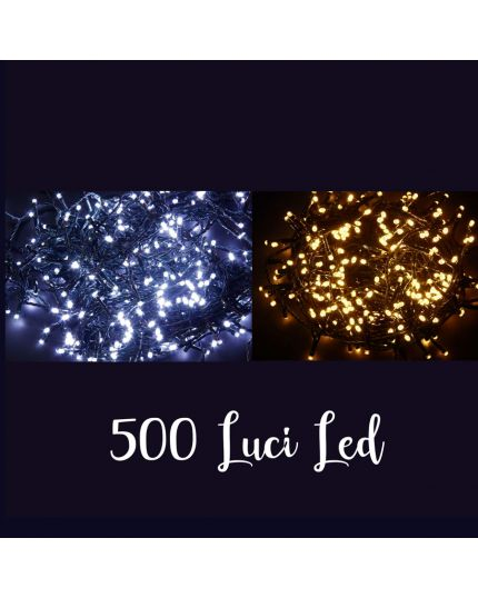 Filo Verde 500 Luci LED Colorate 25 Metri