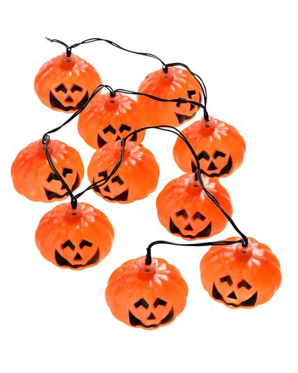 Ghirlanda Filo 10 Luci LED Zucche Halloween
