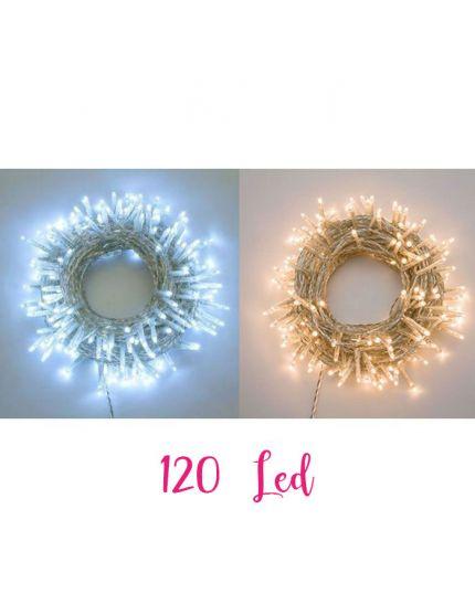 Filo Trasparente 120 Luci LED Colorate 6 Metri