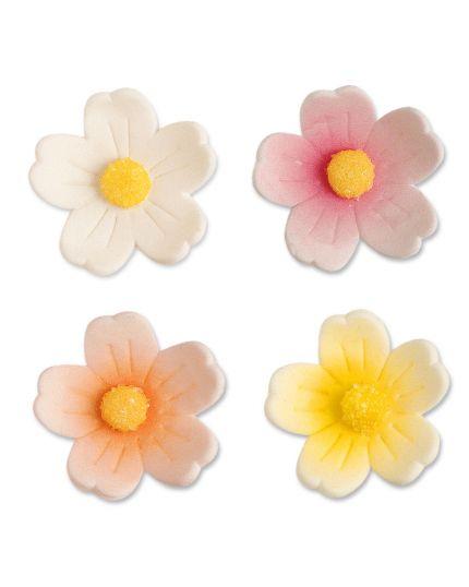 Decorazione Fiore Grande Colorato 4cm