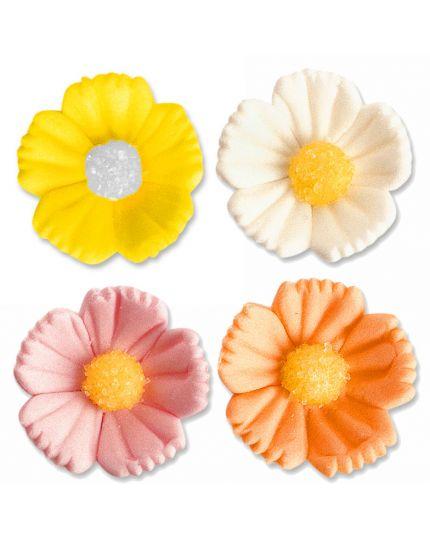 Decorazione Fiore Medio Colorato in Zucchero 3cm