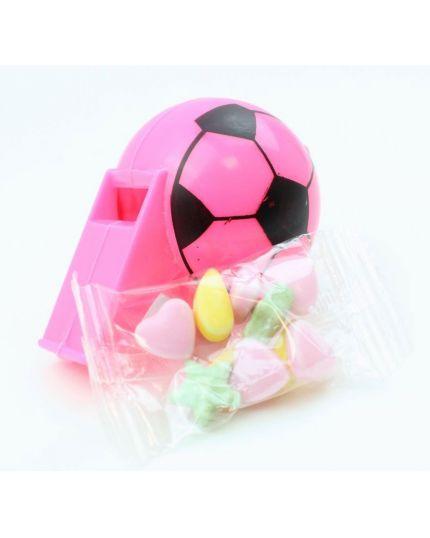 Fischietto Pallone da Calcio Colorato con Caramelline
