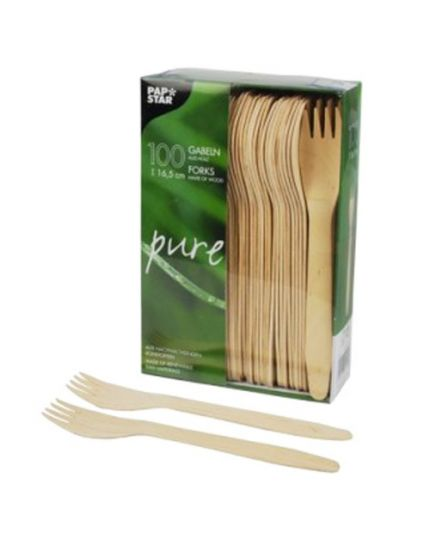 Forchette in Legno 100 Pezzi