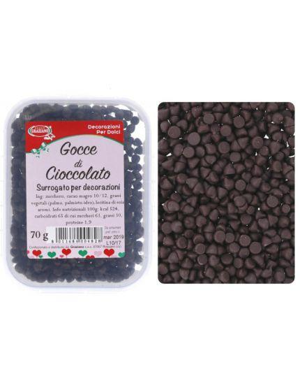Gocce Cioccolato Graziano per Decorazione 70gr