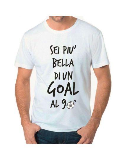 T-Shirt Uomo Sei Più Bella di un Gol al 90°