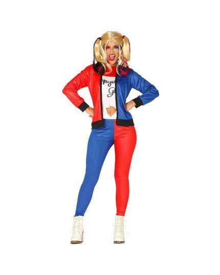 Costume Ragazza Pericolosa Harley Quinn Donna