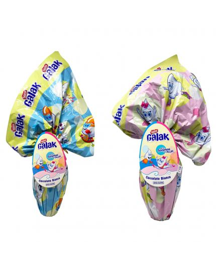 Uovo Pasqua Nestle' Galak Cioccolato Bianco Lui Lei 210gr