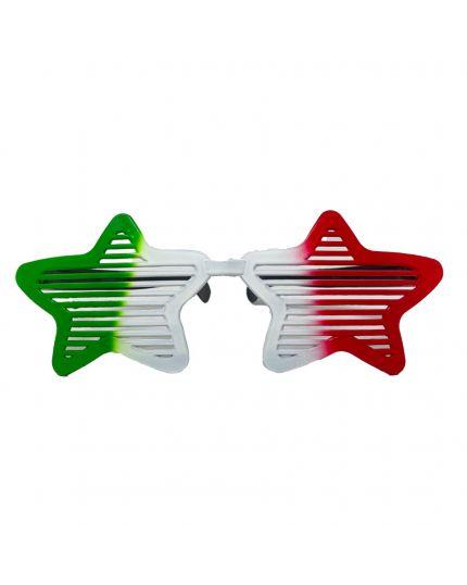 Occhiali Stella Tricolore Italia Pvc