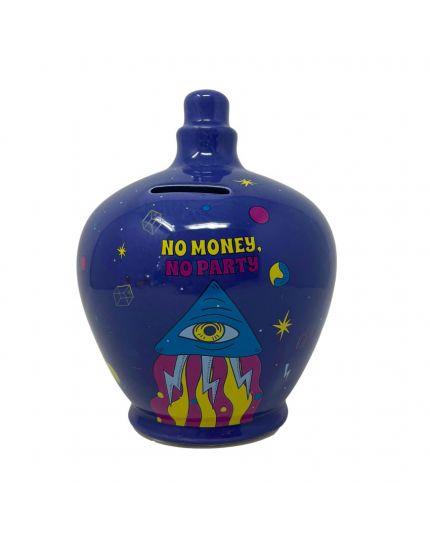Salvadanaio Terracotta No Money, No Party 20cm